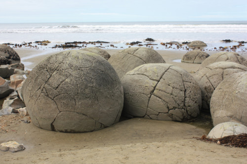 Moeraki Boulders, South Island, New Zealand.