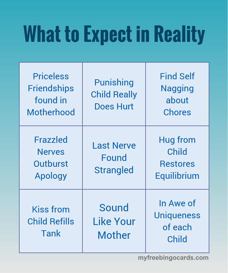 what to expect in reality in motherhood