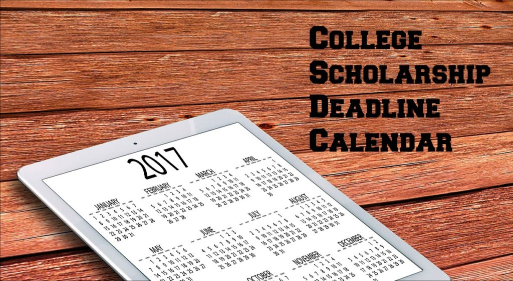 college scholarship deadlines