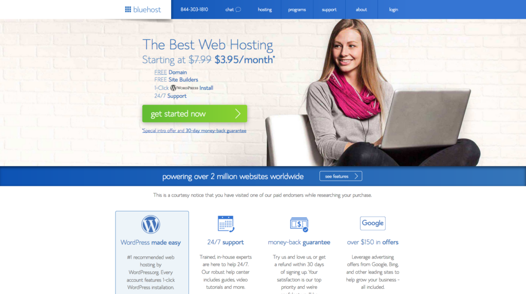 bluehost self hosting web