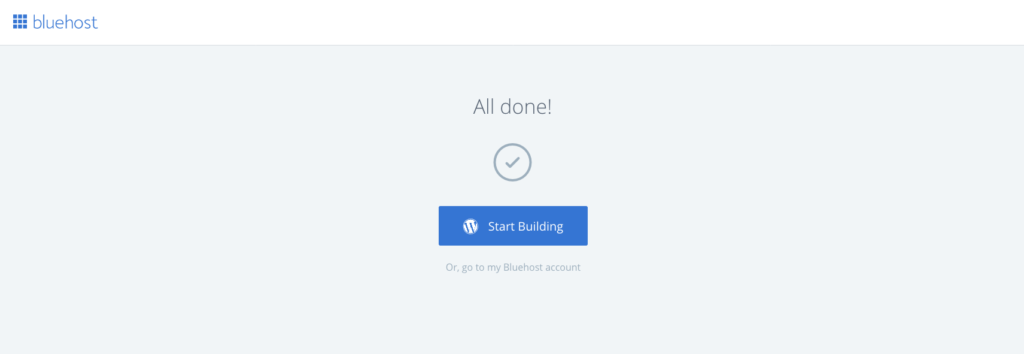 start builidng wordpress site