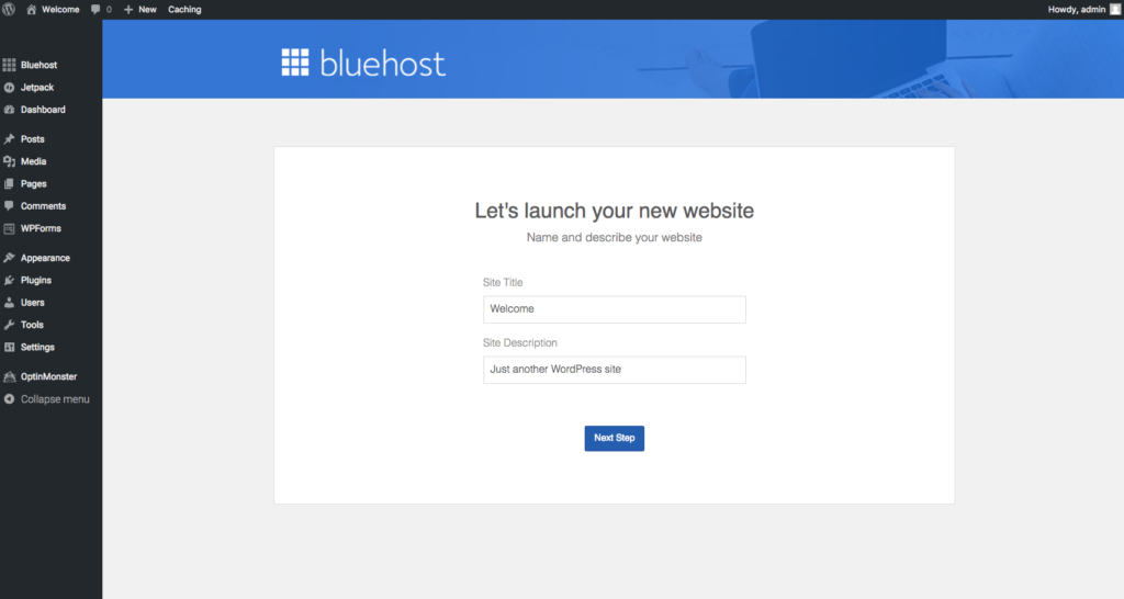 let's launch your new website